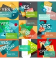 Set of flat design square banners vector image