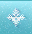 blue winter christmas background snowflakes on vector image