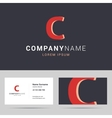 Logotype logo and business card template vector image