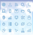 25 development icons set vector image
