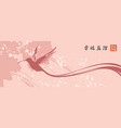 a flying hummingbird on abstract background vector image