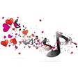 Abstract music bckground with notes vector image vector image
