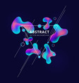 abstract trendy fluid shape bright gradient vector image vector image