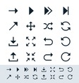 Arrow symbol icon set simplicity theme vector image