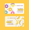 bakery and donuts exotic fruits set business vector image