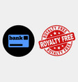 bank card icon and scratched royalty free vector image vector image