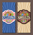 banners for sweets vector image