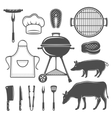 BBQ Decorative Graphic Flat Icons Set vector image vector image