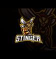 bee mascot sport logo design vector image vector image