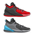 best simple basketball shoes vector image