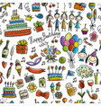birthday party seamless pattern for your design vector image vector image