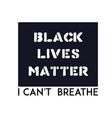 black lives matter banner against racial vector image