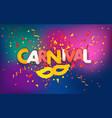 brazilian traditional carnival concept festive vector image vector image