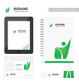 company app design with company diary with logo vector image
