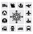 compass and transport vector image vector image