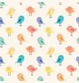 cute bird seamless pattern background vector image