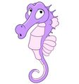 cute cartoon seahorse vector image vector image