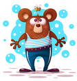 cute funny bear animal character vector image vector image