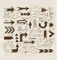 doodle sketch arrows on vintage background vector image vector image