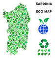 ecology green collage italian sardinia vector image vector image