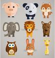 funny cartoon animals vector image vector image