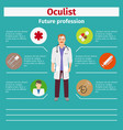 future profession oculist infographic vector image