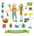 Gardening Cartoon Set vector image