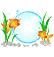 Goldfish advertisement vector image vector image