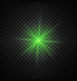 green glowing lights on transparent background vector image