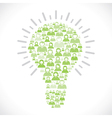 green people team make bulb shape vector image vector image