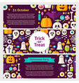 Halloween Party Concept Template Banners Set in vector image vector image