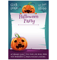 happy halloween editable poster with smiling and vector image vector image