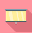 home cinema white banner icon flat style vector image vector image