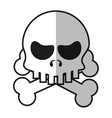 Isolated skull cartoon design vector image vector image