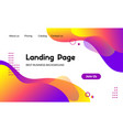 landing page template abstract modern vector image