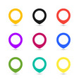 map point set icons coloful vector image vector image