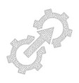 mesh gear integration icon vector image vector image