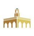 mosque logo vector image vector image