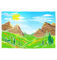 mountains hills and trees vector image