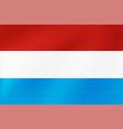 national flag lexemburg vector image vector image