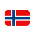 norway flag scandinavian country isolated vector image