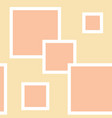 peach beige pattern with squares vector image