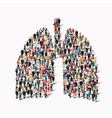 people lungs medicine crowd vector image