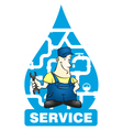 Plumber vector image vector image