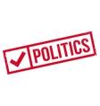 Politics rubber stamp vector image