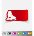 realistic design element skates vector image