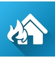 Realty Fire Damage Gradient Square Icon vector image vector image