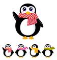 retro winter penguin vector image