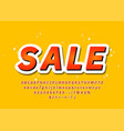 sale font trendy colorful 3d typography alphabet vector image vector image