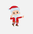santa claus points angrily to his left vector image vector image